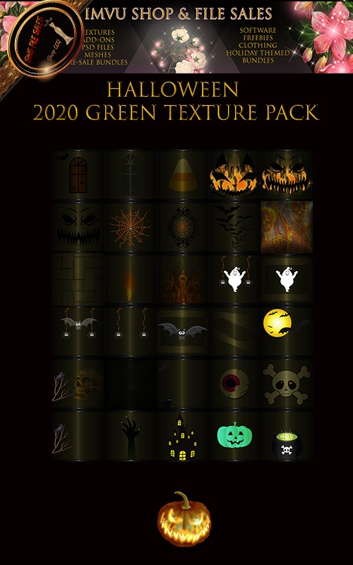 🎃Halloween 2020 Green Texture Pack- 30 files