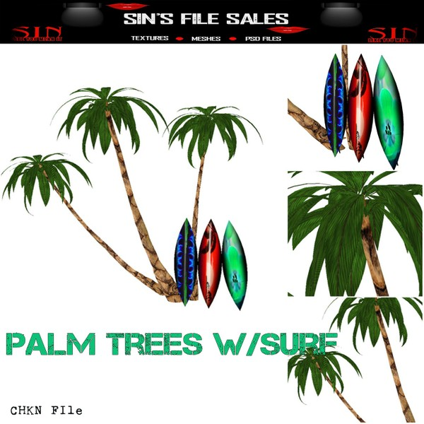 Palm Tree/Surf Mesh