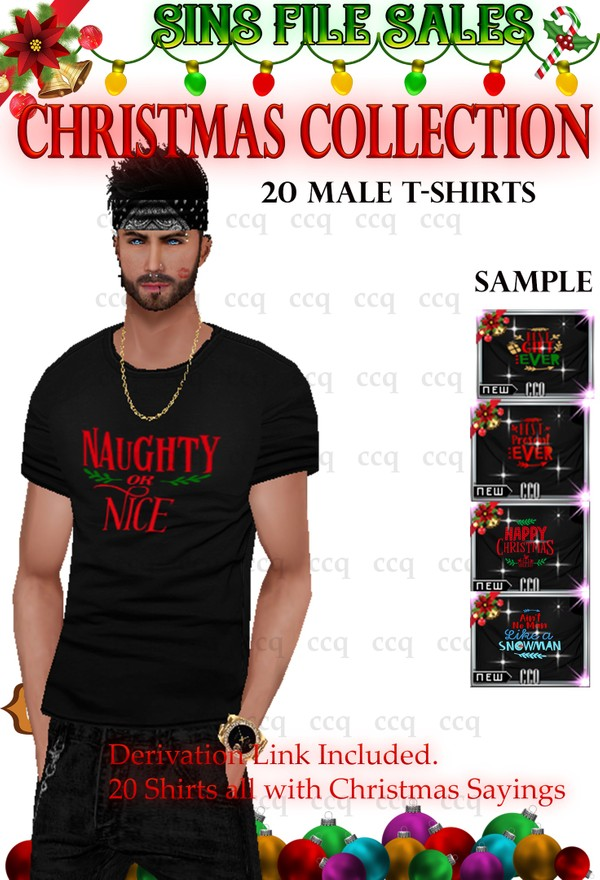 Christmas Themed Saying Mens T-Shirts- 20 Shirts