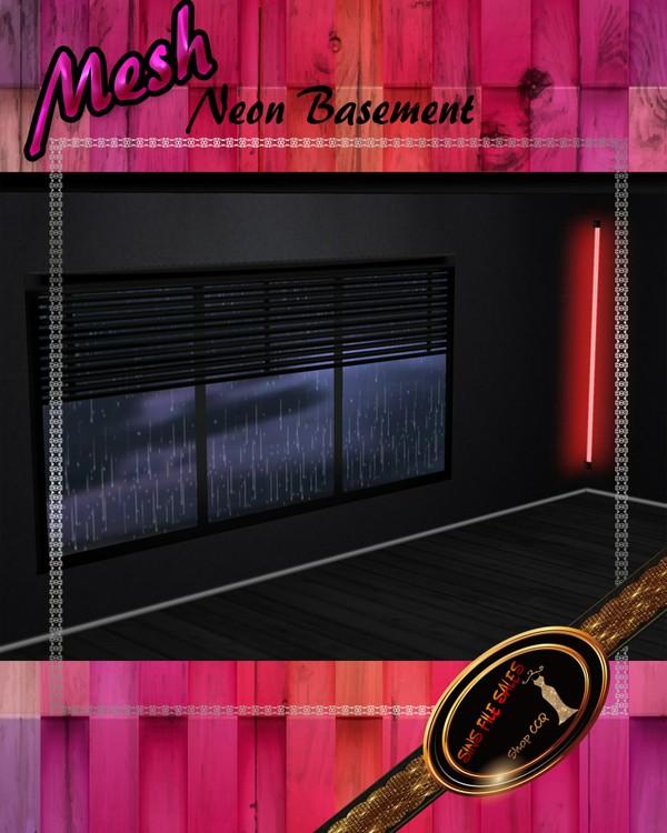 •Neon Basement Room Mesh•CHKN