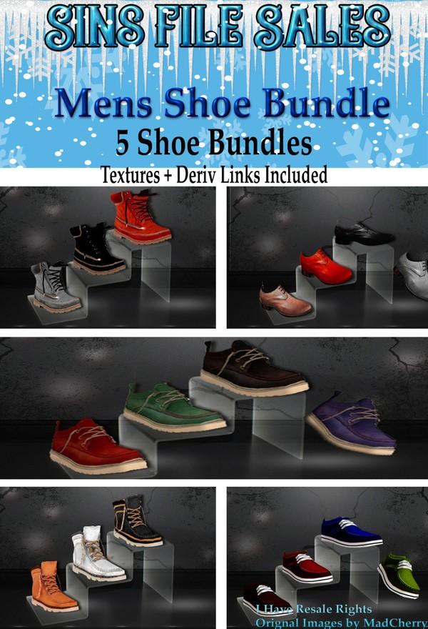 Mens Shoe Bundle *5 bundles Included