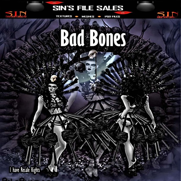 Bad Bones Collection W/Resale Rights