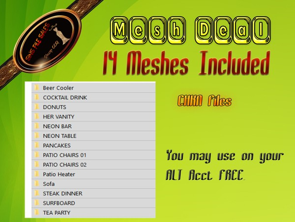 •Mesh Deal• 14 Meshes Included