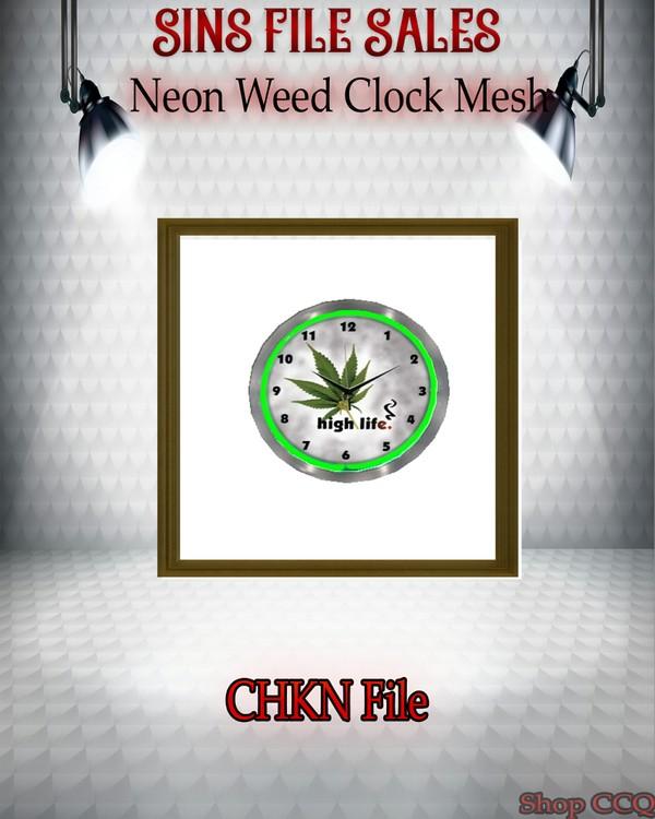 •High Life Clock Mesh Neon•