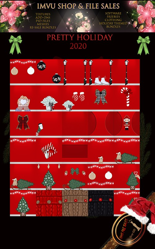 Pretty Holiday Texture Set 2020