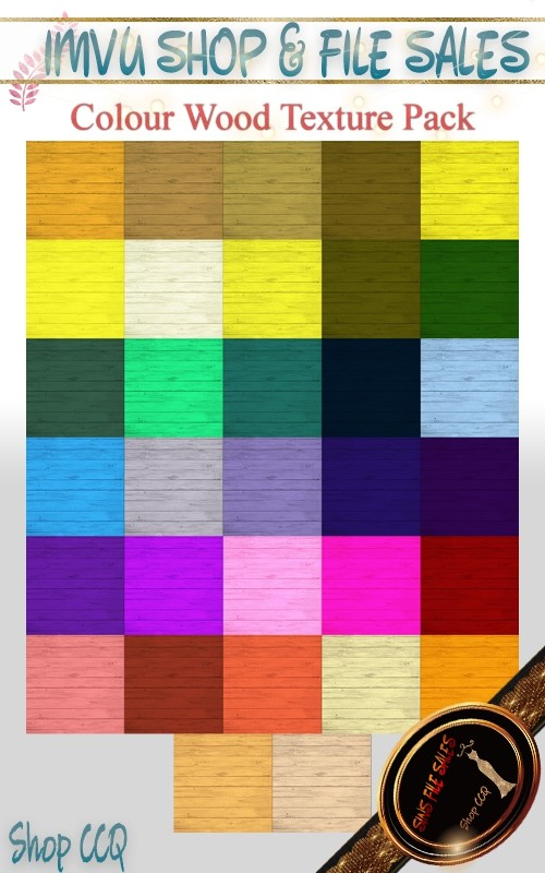 Colored Wood Texture Set- 33 Files