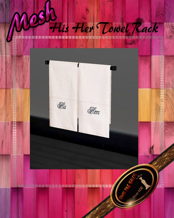 •His/Her Towel Rack Mesh•CHKN File