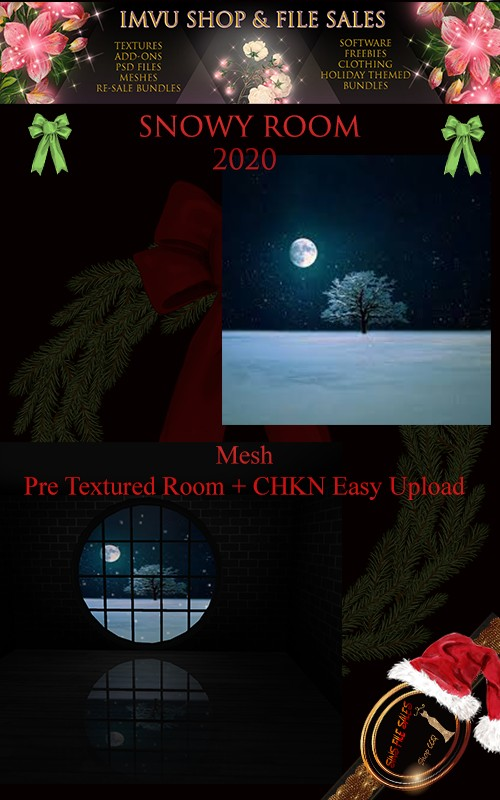 Snowy Room 2020- Mesh- Pre Textures CHKN File Included