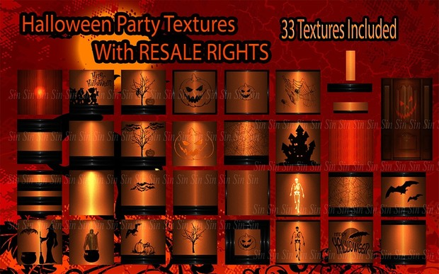 Halloween Party Textures Resale Included!Limited!