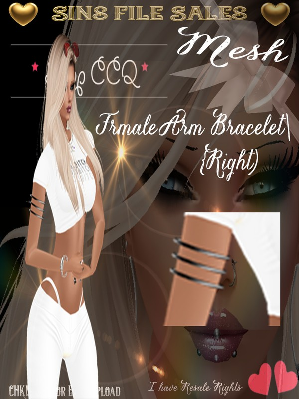 Right Upper Arm Bracelet Mesh