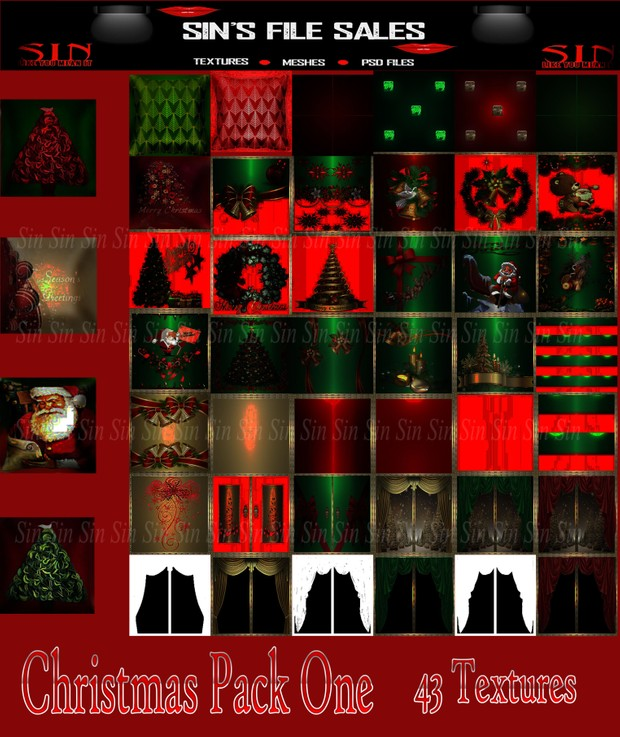 Christmas Texture.Christmas Textures Pack One