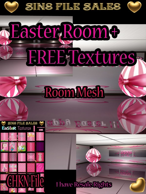 Easter Room Mesh + FREE Easter Texture Pack