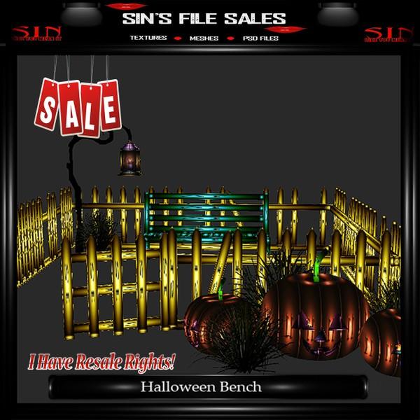 Halloween Bench Mesh