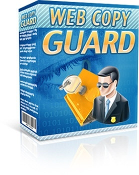 Web Copy Guard Software w/Resale Rights *Stops Thief!!