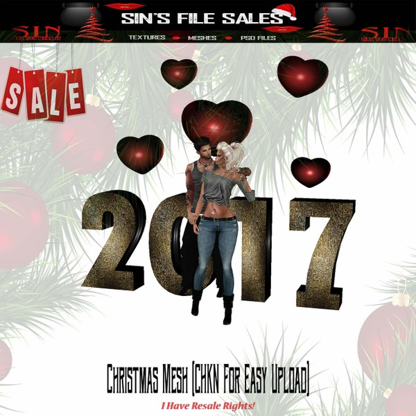 🎄2017 Couple Mesh (CHKN File for Easy Upload)🎄