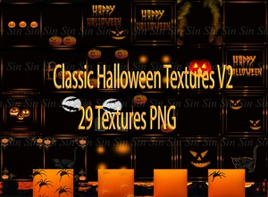 Halloween Classic Textures V2 * 29 PNG.. You may use on your alt account*