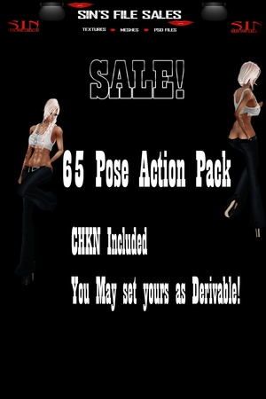 SALE! 65 Pose Action Pack