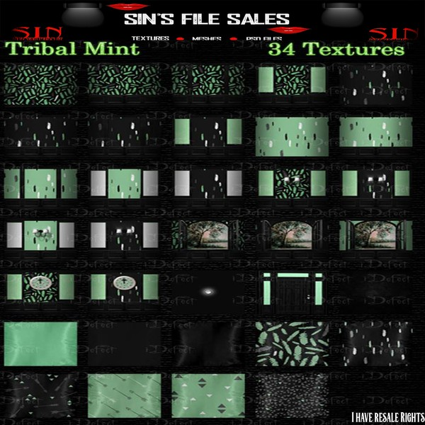 Tribal Mint Texture Pack