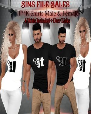 •F**K Shirt Set• Male & Female