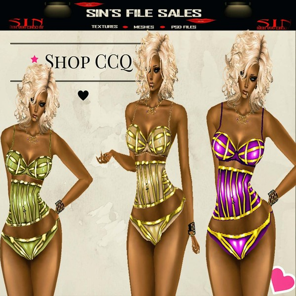 Foxy Corsets * 3 Colors, CHKN Included