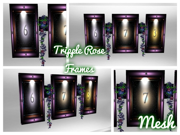 Tripple Rose Frame