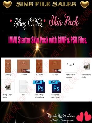 IMVU Skins with GIMP & PSD Files