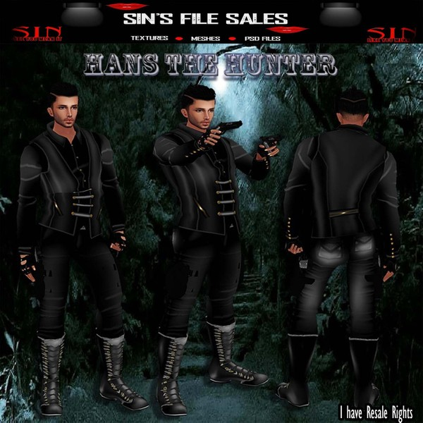 Man In Black Bundle *Hans The Hunter* SALE*