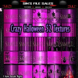 CrAzY Halloween Room Textures /52 Textures