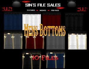 Mens Bottoms * 10 Files
