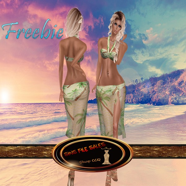 Freebie *Summer Palm Bikini