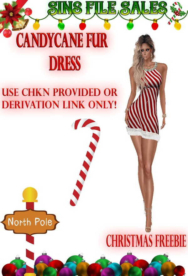 Candycane Dress Freebie