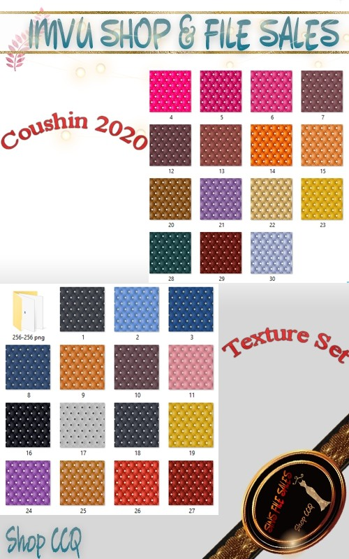 Cushion Texture Set- 30 files