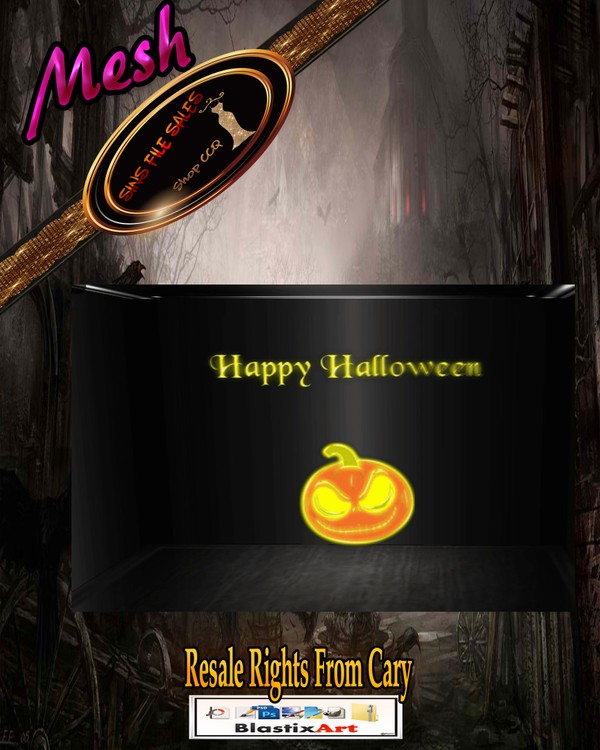 Happy Halloween Wall Sign *Animated Colours*