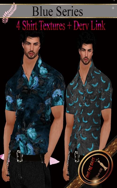•Blue Series Mens Shirts•