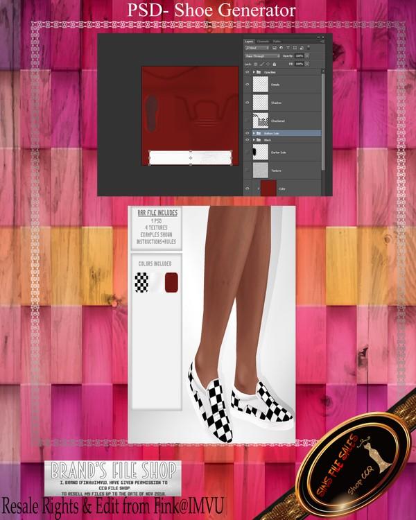 •Shoe Generator• PSD