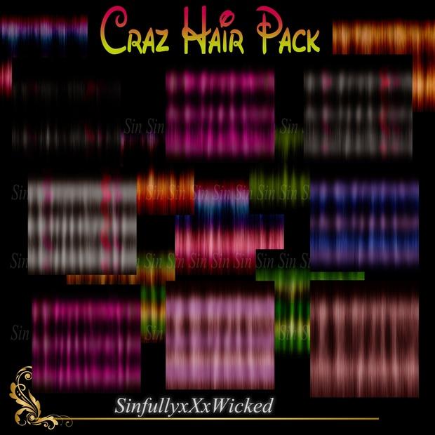 Craz Hair Pack ( 15 Textures)