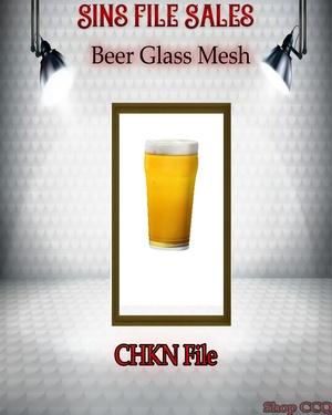 •Beer Glass w/Beer Mesh•