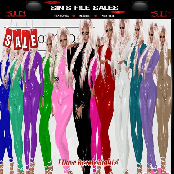 13 Latex Bodysuits * Derv Link Included