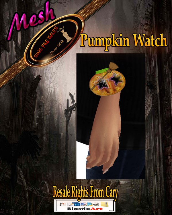 💀Halloween Pumpkin Watch Mesh•CHKN💀