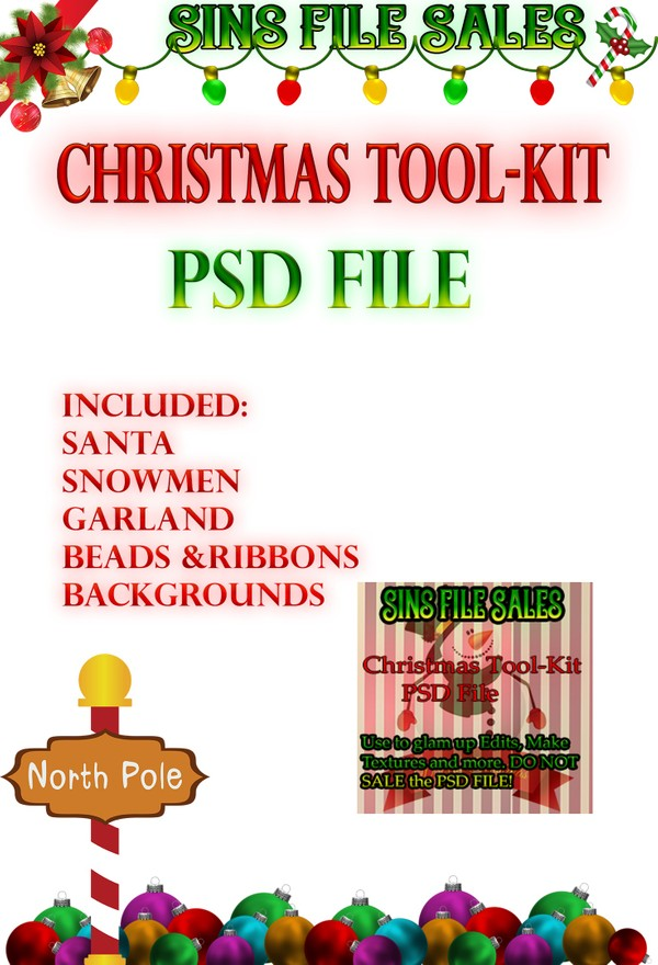 Christmas Tool-Kit-PSD File