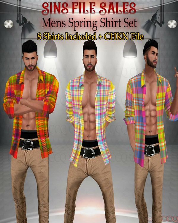 •Spring Shirt Set Mens• 8 Shirts Plus CHKN