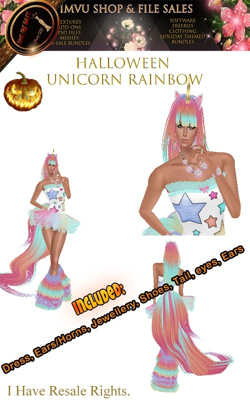 🎃Rainbow Unicorn Full Outfit🎃