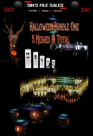 Halloween Bundle #1 * 5 Meshes Included