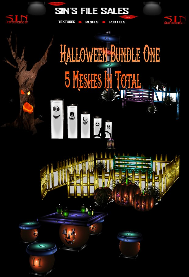 Halloween Bundle #1 * 5 Meshes Included