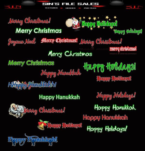 Christmas Transparent Logos * 26 Png + 1