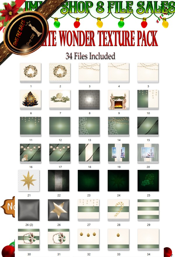 🎅 White Wonder Christmas Texture Pack 🎅