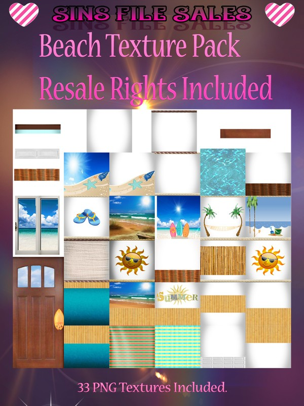 Beach Texture Pack With Resale Rights