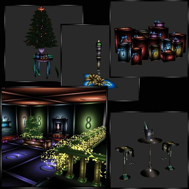🎄Christmas🌟 Special #2🎄19 Furniture Meshes Plus Bonus Free Furnished Christmas Room🎄