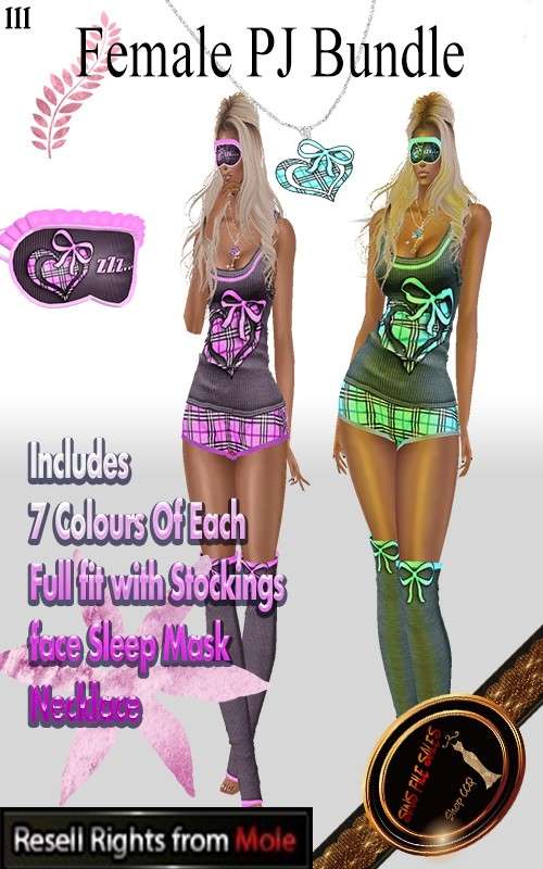 ◘Female PJ Bundle-7 Colours◘