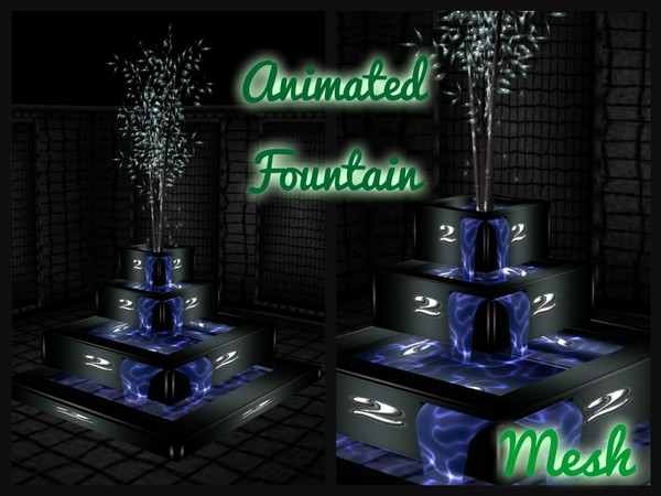Animiated Fountain Mesh